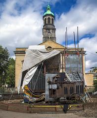 190823004 (Xeraphin) Tags: scotland edinburgh fringe festival 2019 church carriage cowgate stpatricks catholic stagecoach coach horsedrawn iron