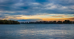 Nevena Uzurov - Windy evening (Nevena Uzurov) Tags: evening river sava sremskamitrovica clouds sunset colorful serbia flatland nevenauzurov momentintime