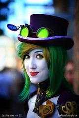 San Diego Comic Con International 2019 (Sam Antonio Photography) Tags: costume cosplayer cosplay comiccon comicconinternational sandiegocomiccon female woman onewomanonly model hat sandiegocalifornia glasses popculture eyes anime