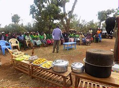 Kenya Tigania - Community health talk and cooking demo (Growing Hope Globally) Tags: growing hope globally world renew ads mt kenya east humanitarian charity food security farmers men women children families drough drip irrigation mulching income tomatoes kale conservation agriculture