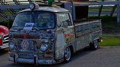 VW Single Cab Pickup. (Tim @ Photovisions) Tags: xt1 vw fuji pickup fujifilm patina sinclair volkswagen iowa rat ratrod