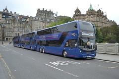 Lothian Buses Volvo B8L 1128 SB19GLY - Edinburgh (dwb transport photos) Tags: lothinbuses volvo alexander dennis enviro 400xlb bus decker 1128 sb19gly