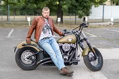 Motorbike (piotr_szymanek) Tags: marcin marcinb portrait face bike motorbike harleydavidson outdoor fotogenerator fg11 1k 5k 20f 10k