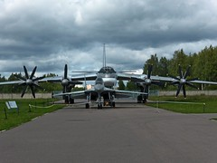 Mig-29 with Tu-95 (antonisng) Tags: mig29 tu95 monino air force museum tupolev bomber fighter