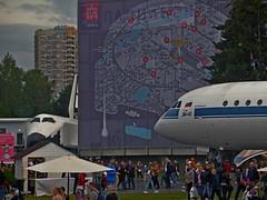 Buran hiding from Yakovlev :-) (antonisng) Tags: buran space shuttle spacecraft yak42 yakovlev moscow vdnkh