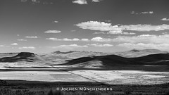 a straight road (drzoidbergh) Tags: peru altiplano road bw blackandwhite landscape clouds scenic panorama wide