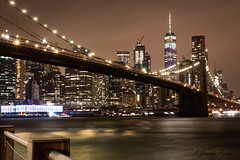 NYC (Jimmy Joe P) Tags: city nyc newyork skyline brooklyn night manhattan brooklynbridge bridge urban river nightshooting