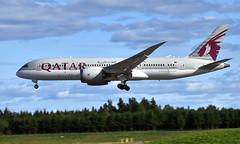 Qatar A7-BCA,  OSL ENGM Gardermoen (Inger Bjørndal Foss) Tags: a7bca qatar boeing 787 dreamliner osl engm gardermoen