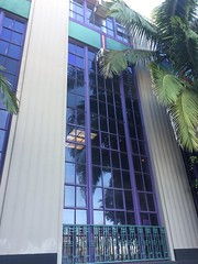 (matthew valencia) Tags: artdecoarchitecture sanpedro losangeles california architecture glass door tower palmtrees