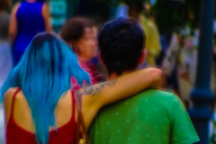 Embraced (Lea Ruiz Donoso) Tags: sony 2019 madrid street urban movement motionblur people motion