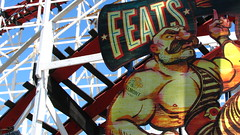 *FEATS* (Rand Luv'n Life) Tags: strong man feats sign belmont park roller coaster mission beach san diego california outdoor amusement