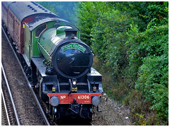 Mayflower arrives at Bekesbourne nr Canterbury (john from Canterbury) Tags: steamdreams steamengine train locomotive britishrailways transport engine steam speed power railway 61306 mayflower lner 460 b1class