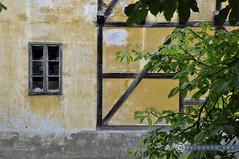 Oberösterreich Weyer_DSC0399 (reinhard_srb) Tags: oberösterreich weyer lost place hintaus wehr fluss gewässer baum wasser kies gaflenz fachwerk fenster verfallen mauer gelb