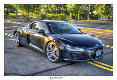 Audi R8 (Pearce Levrais Photography) Tags: car sport luxury expensive race racing outside outdoor tree plant show parked parking park wheel black sony a7r3 hdr