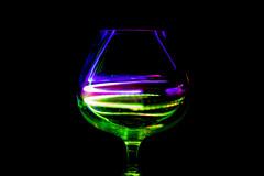 Colorful Cognac (38/52) (vmabney) Tags: led light lightpainting lighttrail wineglass cognac longexposure 50mm 50mmprime canon50mm dslr