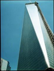 Freedom (Michael Kommarov) Tags: wtc 120 medium format analog lomography fuji fujifilm color negative gs645 120mm 6x45 nyc new york city freedom tower