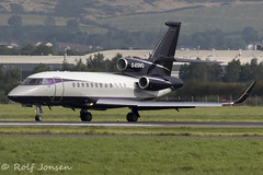 G-EGVO Dassault Falcon 900EX TAG Aviation Glasgow airport EGPF 24.08-19 (rjonsen) Tags: plane airplane aircraft aviation airliner airside taxying business jet bizjet