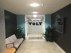 Volt Bank (Dushan and Miae) Tags: door hallway lounge tv teal