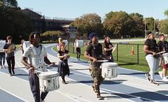 High School Marching Band - Bay Ridge (neilsonabeel) Tags: nikonfm2 nikon nikkor film analogue bayridge brooklyn newyorkcity band marchingband school track