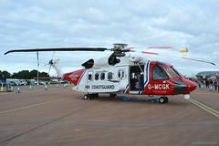 G-MCGK Coastguard Sikorsky S92, EGVA 21/7/19 (David K- IOM Pics) Tags: royalinternationalairtattoo riat riat2019 ffd egva raf fairford royal international air tattoo static bristow helicopters coast guard coastguard gmcgk sikorsky s92