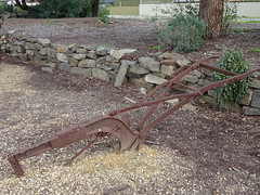 Single Furrow Plough (mikecogh) Tags: old iron display horsedrawn plough agricultural implement freeling