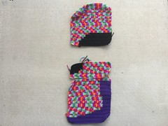 Two and-a-half of sixteen panels A (crochetbug13) Tags: crochet crocheted crocheting dayofthedeadcrochetyarnbomb crochetyarnbomb doublecrochetpanel doublerainbow