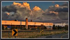 McBeanInLincolnCA_8273 (bjarne.winkler) Tags: sunset light over mcbean ceramics company north end lincoln ca
