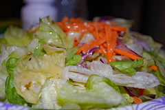 Tossed Salad. (dccradio) Tags: lumberton nc northcarolina robesoncounty indoor indoors inside food eat dinner supper lunch meal nikon d40 dslr september evening goodevening thursdayevening thursday tossedsalad salad lettuce carrots cabbage