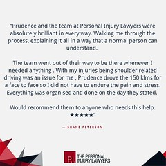 Over 100 five star reviews like this. Costs nothing to see if you have a claim: 1800 958 498 http://bit.ly/TPIL5stars (The Personal Injury Lawyers) Tags: injury help advice personalinjury personalinjurylawyers lawyers goldcoast brisbane australia compensation