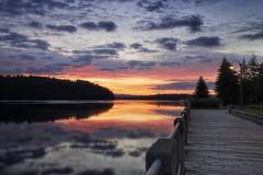 Petit matin frais d'Août sur le vieux port (gaudreaultnormand) Tags: bleu blue calme canada chicoutimi leverdesoleil lumière port quai quebec sunrise
