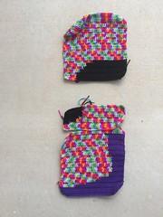 Two and-a-half of sixteen panels (crochetbug13) Tags: crochet crocheted crocheting dayofthedeadcrochetyarnbomb crochetyarnbomb doublecrochetpanel doublerainbow