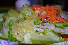 Salad. (dccradio) Tags: lumberton nc northcarolina robesoncounty indoor indoors inside food eat dinner supper lunch meal nikon d40 dslr september evening goodevening thursdayevening thursday tossedsalad salad lettuce carrots cabbage