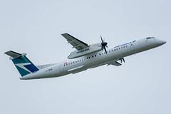 C-FWEW Bombardier DHC-8-402Q WestJet Encore (SamCom) Tags: yvr cyvr vancouverinternationalairport cfwew bombardier dhc8402q westjetencore