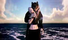 Ocean Sure (Vin Raven-Owle) Tags: vin raven owle catwa catya maitreya vtech jomo ravenbell twosided agata ckelite endlesspaintattoo mudskin song songinspired ocean horizon clouds seafoam wolf anthro werewolf gay couple