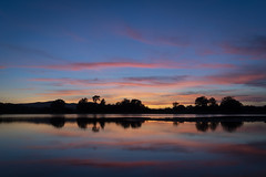 Clifton (cliveg004) Tags: clifton kempsey worcestershire worcester malvernhills silhouette trees hills skyline rural landscape waterscape clouds sunset pink reflections nikond7500 tamron1024