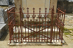 Carefully Corralled (BKHagar *Kim*) Tags: bkhagar fence fencing iron ironwork metal metallic cemetery grave graveyard tomb stjoseph neworleans la louisiana southern hff happyfencefriday