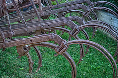 Rusty (gabi-h) Tags: hayrake vintage rusty farmmachinery gabih milford milfordfallfairdisplay princeedwardcounty greengrass ontario historical