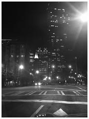 night lights on peachtree street_ATL (Ken B Gray) Tags: peachtreestreet atl atlanta georgia thesouth peachstate iphonography whatisee lights iphone blackandwhite apple