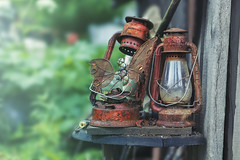 'til the very end (rockinmonique) Tags: lanterns rust old two bokeh macro caribooregion weathered wood together pair moniquewphotography canon canont6s tamron tamron45mm copyright2019moniquewphotography
