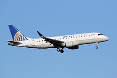 N145SY Embraer ERJ-175LR, Skywest/United Express, KOKC (CaptainN1435S) Tags: n145sy embraer erj175lr skywestairlines unitedexpress oklahomacityairport kokc