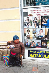 Promotions (klauslang99) Tags: klauslang streetphotography dwarf man cuenca ecuador disabled seller advertisement poverty social injustice