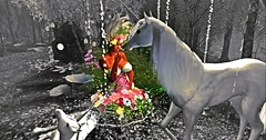 licorne (Khewel) Tags: fairy secondlife licorne flower dream