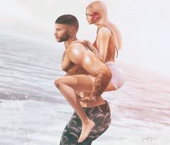 ᶜᵃⁿ ᴵ ᵍᵒ ʷʰᵉʳᵉ ʸᵒᵘ ᵍᵒ...? (scarlettrose.karsin) Tags: vegastattoo tattoo ink bodyart bodyink legacy signature catwa genusproject amitieposes couple sl secondlife love beach