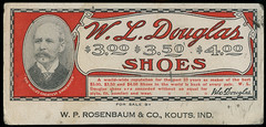 Douglas Shoes Sold by W. P. Rosenbaum, circa 1909 at Kouts, Indiana - Ink Blotter (Shook Photos) Tags: inkblotter ink blotter wldouglas shoe shoes footwear rosenbaum koutsindiana kouts indiana portercounty