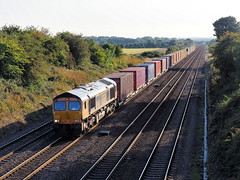 66762 4N08 Brumber Hill 19-09-19 (Robin Patrick's Trains) Tags: gbrf brumber hill container train 66762