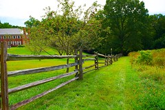 Happy Fence Friday! (ineedathis, Everyday I get up, it's a great day!) Tags: redapples museum building architecture grass appleorchard historical fence trees landscape happyfencefriday nikond750 theodorerooseveltestate oysterbay longisland newyork