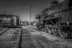 Chemnitz-Hilbersdorf (Guy Goetzinger) Tags: train nikon eisenbahn railway zug locomotive steamtrain d500 chemnitz brd eisenbahnmuseum goetzinger bw sw dampflok ddr reichsbahn