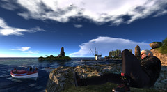 second home by the sea (mokkris pera) Tags: secondlife sea fishermen fish boat fisherboat home bey clouds island that is there fischerboot heimat meer nordsee atlantik pazifik alone vale koer
