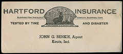 Hartford Insurnace, John G. Benkie, Agent, circa 1915 at Kouts, Indiana - Ink Blotter (Shook Photos) Tags: inkblotter blotter ink koutsindiana kouts indiana portercounty insurance hartfordinsurance casualty disaster