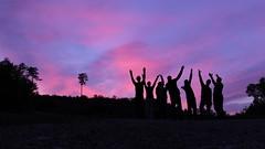rechtzeitig zum Abendrot (Dioscorea Mexicana) Tags: abend evening abendrot rot red sunset lila sonnenuntergang purple himmel sky silhouette schwarz black austria österreich fujifilm fuji x30